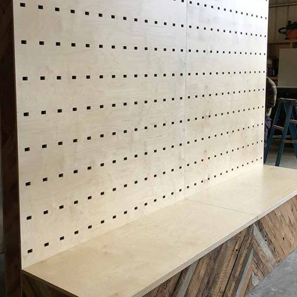 cnc wood retail displays