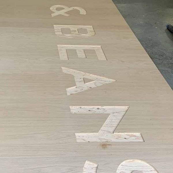 cnc cut custom wood signs
