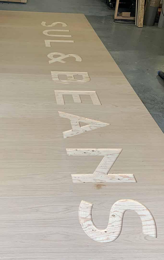 cnc cut custom wood signs